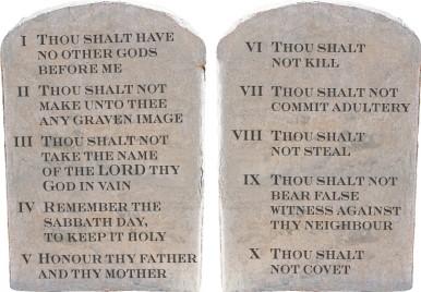 Ten commandments list kjv